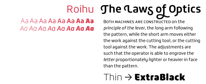 Roihu font sample