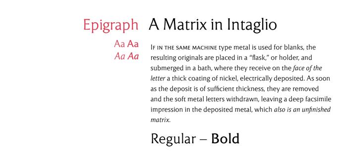 Epigraph font sample