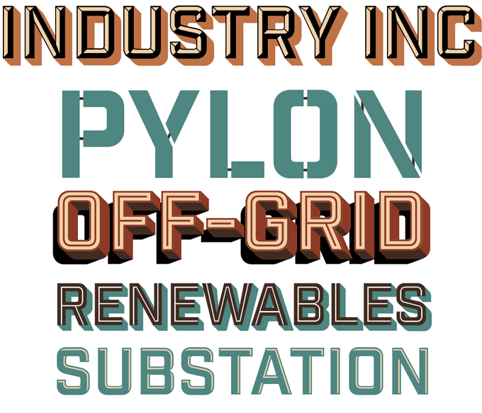 Industry Inc font sample