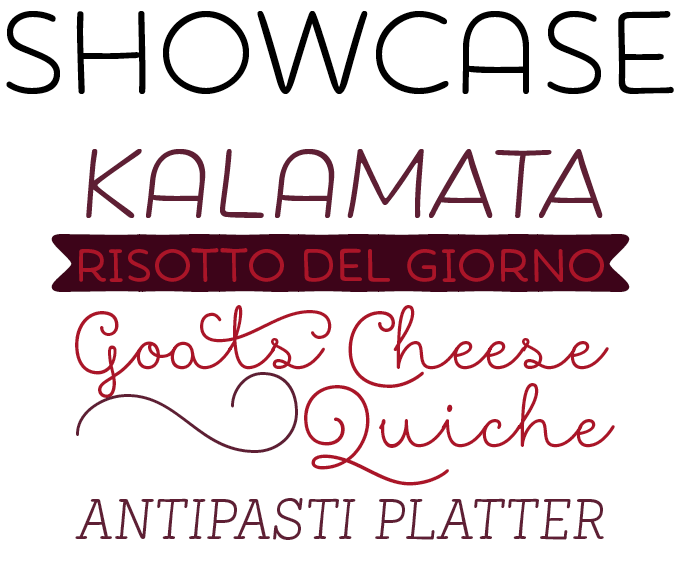 Showcase font sample