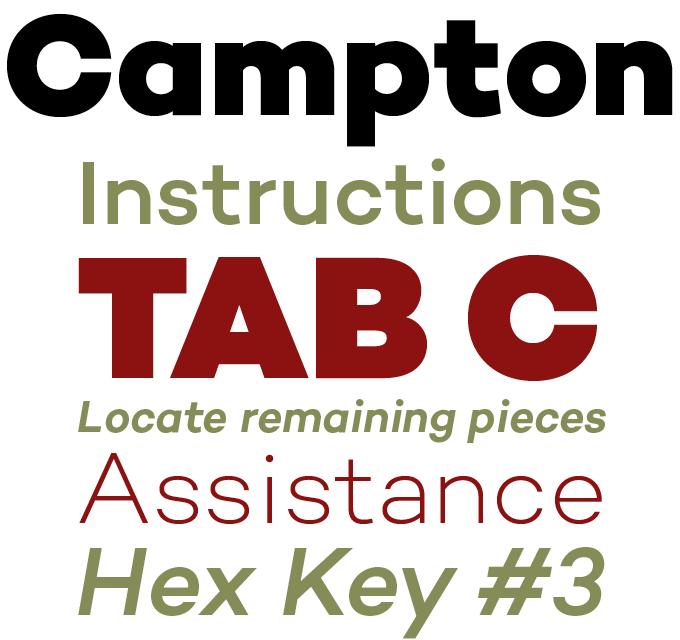 Campton font sample