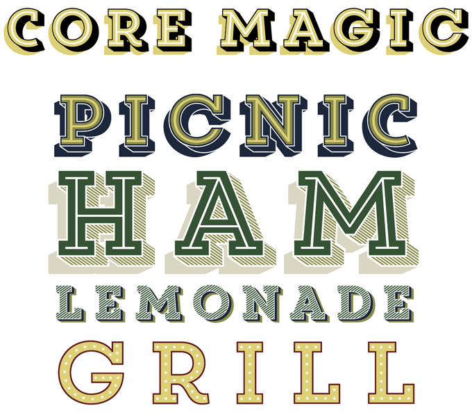 Core Magic font sample