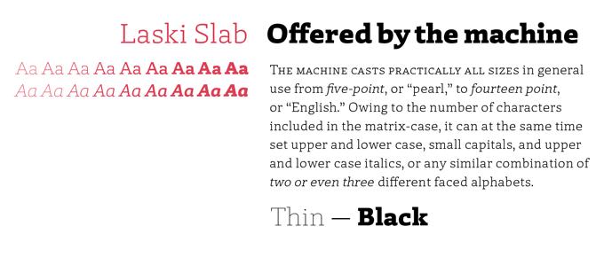 Laski Slab font sample