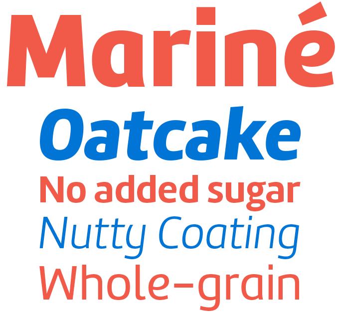 Mariné font sample