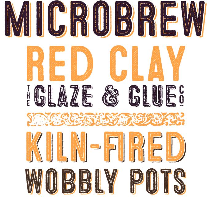 Microbrew font sample