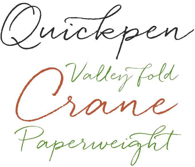 Quickpen font sample
