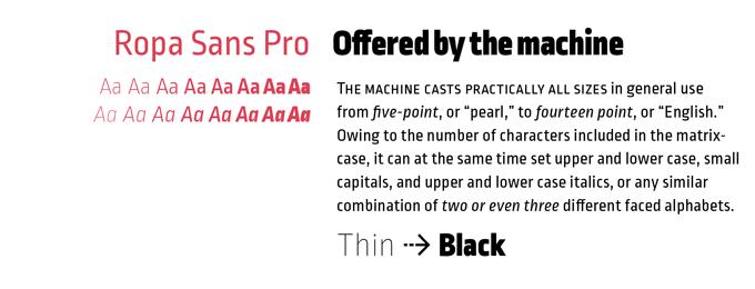 Ropa Sans font sample