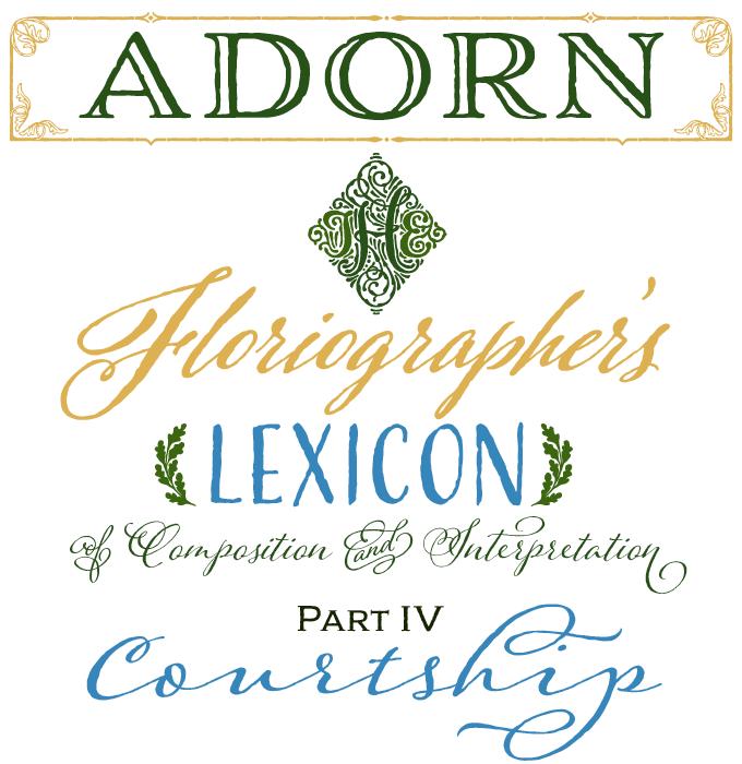 Adorn font sample