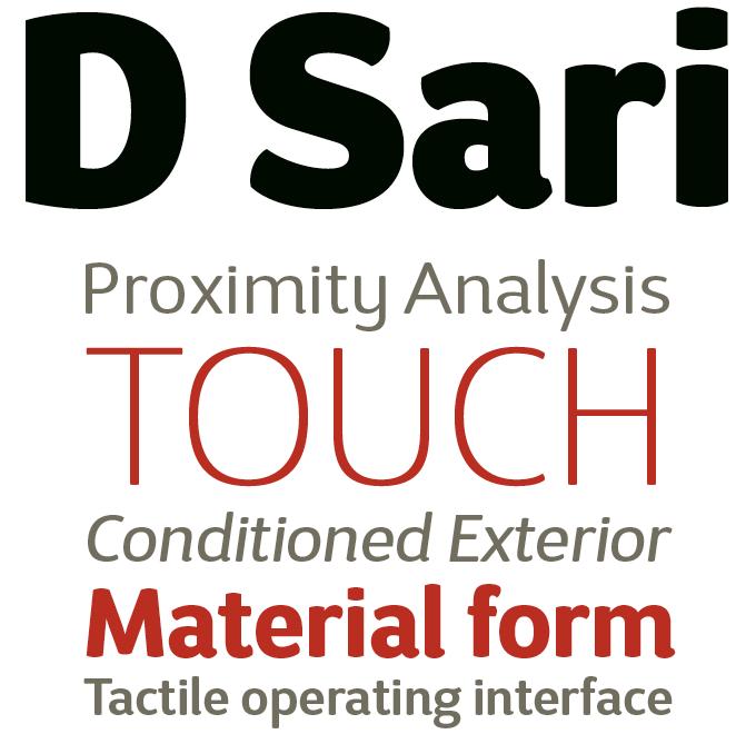D Sari font sample