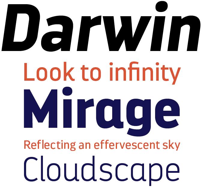 Darwin font sample