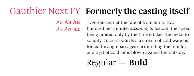 Gauthier Next FY font sample