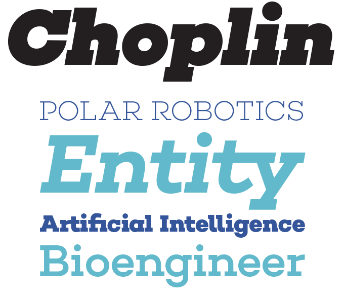 Choplin font sample