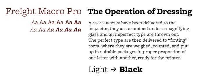 Freight Macro font sample