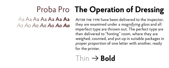 Proba Pro font sample