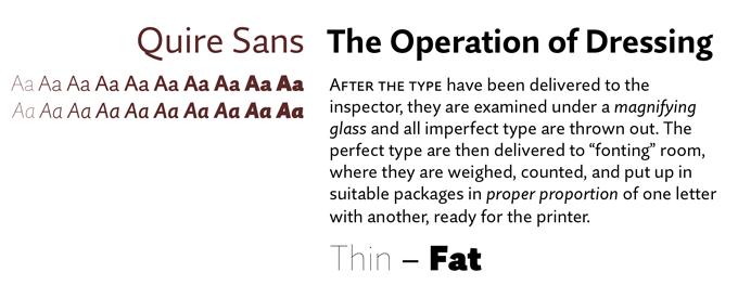 Quire Sans font sample