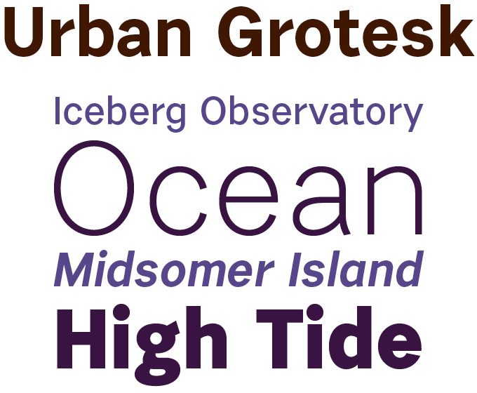 Urban Grotesk font sample
