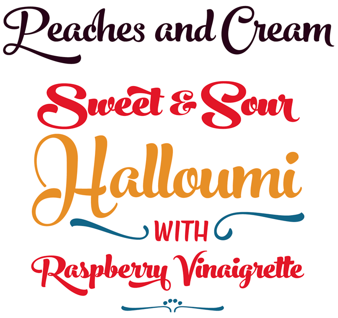 Peaches and Cream font sample