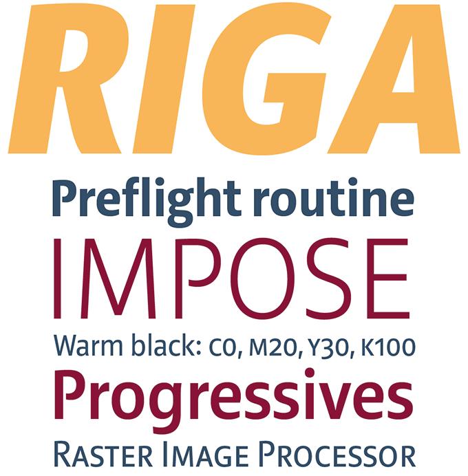 Riga font sample