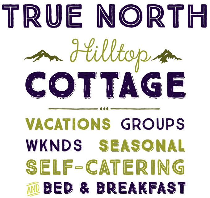 True North font sample