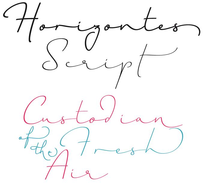 Horizontes Script font sample