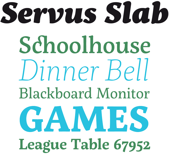 Servus Slab font sample
