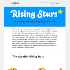 Rising Stars Newsletter, October 2014