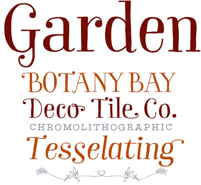 Garden font sample