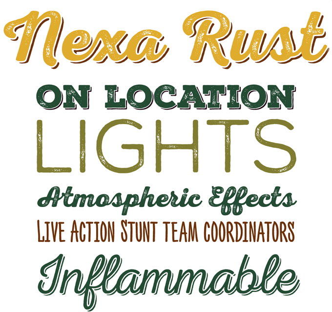 Nexa Rust font sample