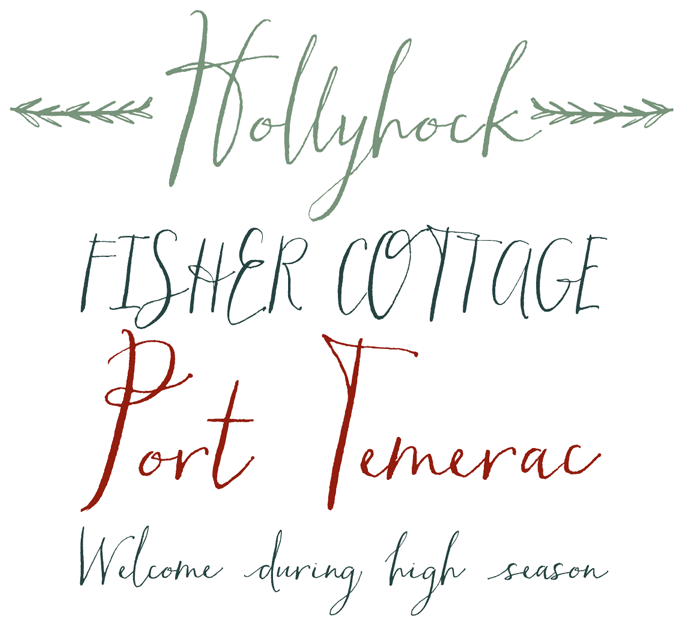 Hollyhock font sample