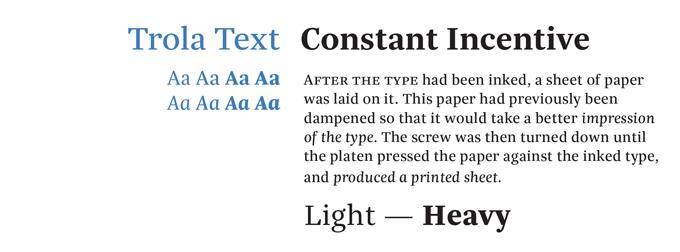 Trola text pro font sle