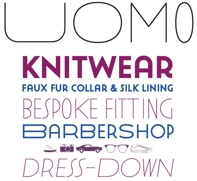 Uomo font sample