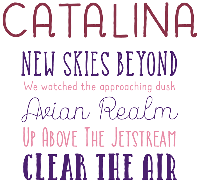 Catalina font sample