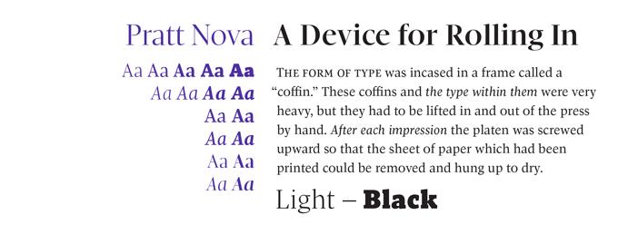 Pratt Nova font sample