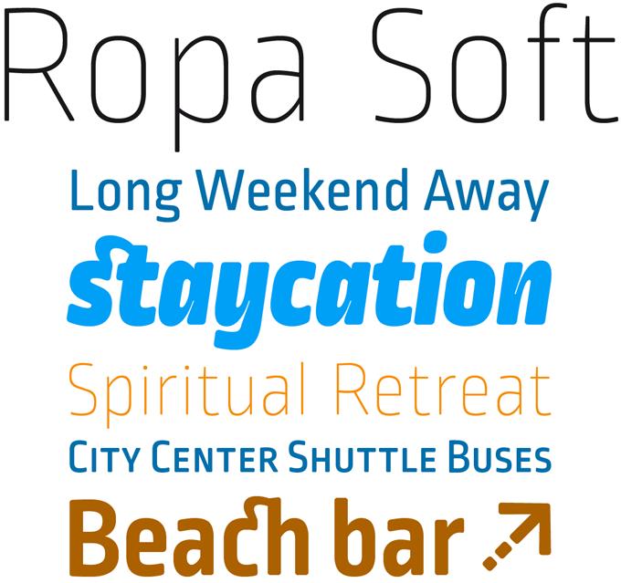 Ropa Soft Pro font sample