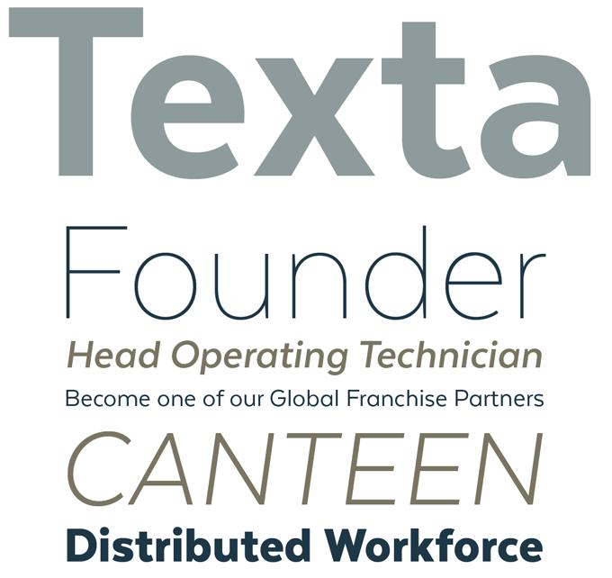 Texta font sample