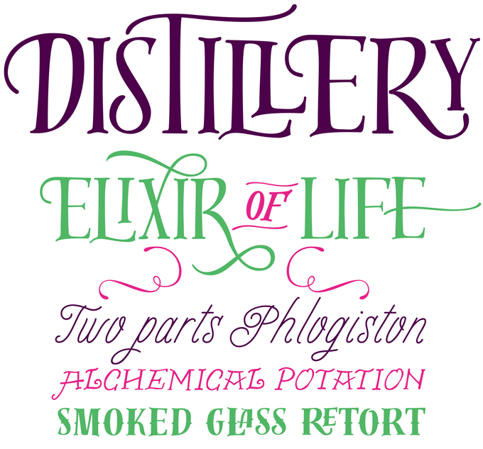Distillery font sample