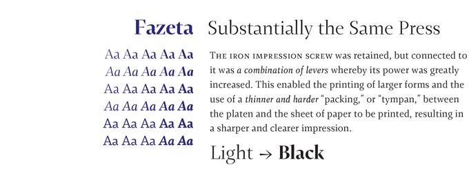 Fazeta font sample