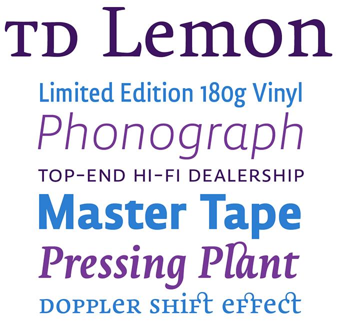 TD Lemon font sample