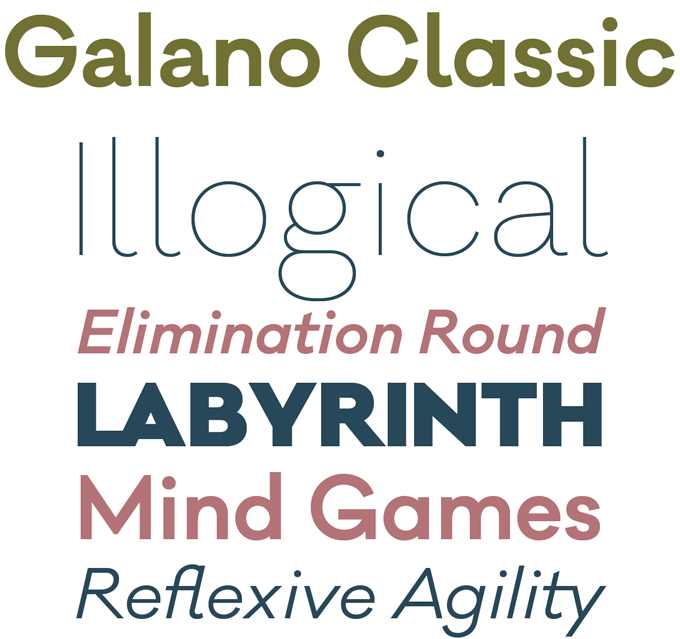 Galano Classic Font Sample