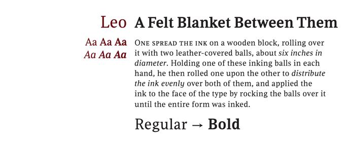 Leo Font Sample
