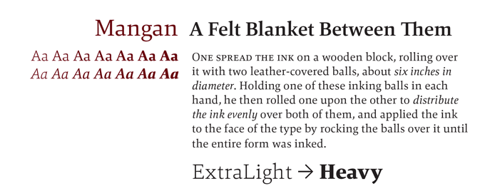 Mangan Font Sample