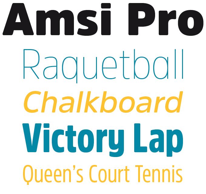 Amsi Pro Font Sample