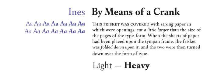 Ines Font Sample