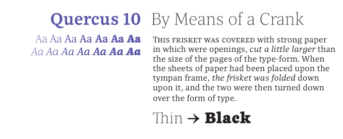 Quercus 10 Font Sample