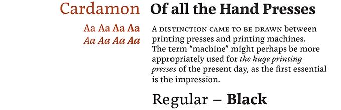 Cardamon Font Sample