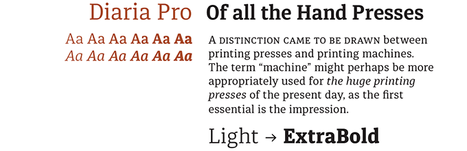 Diaria Font Sample