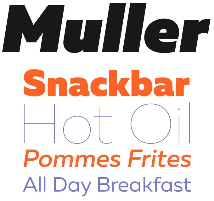 Muller Font Sample