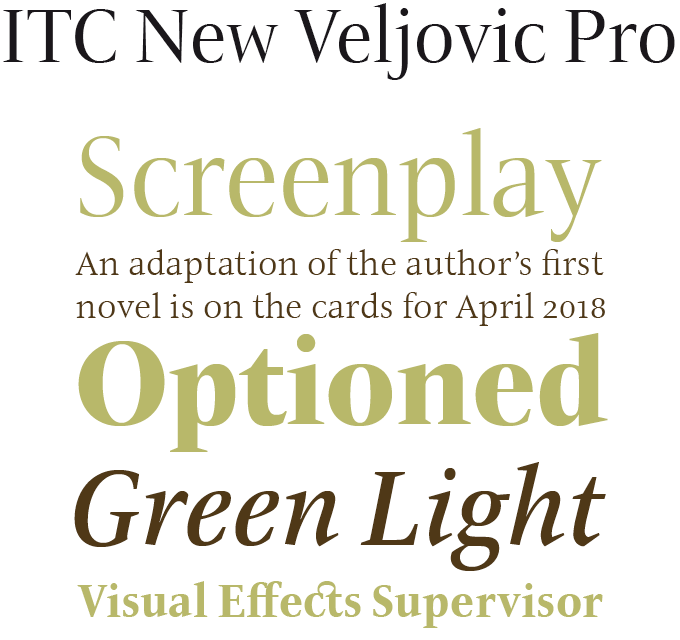 ITC New Veljovic Pro Font Sample