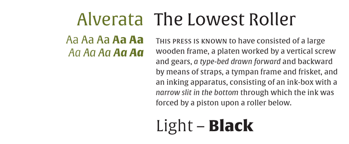 Alverta Font Sample