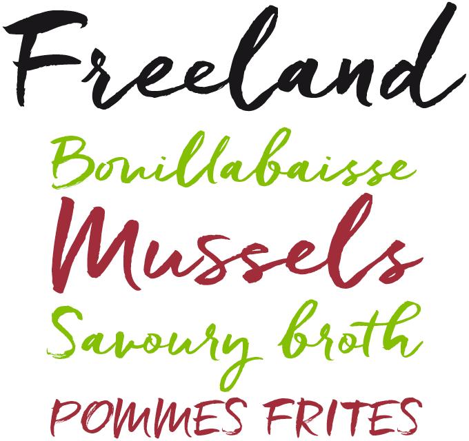 Freeland Pro Font Sample